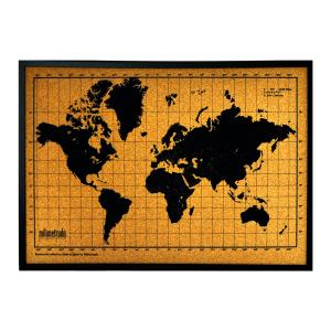 Wereldkaart van kurk - True Gifts