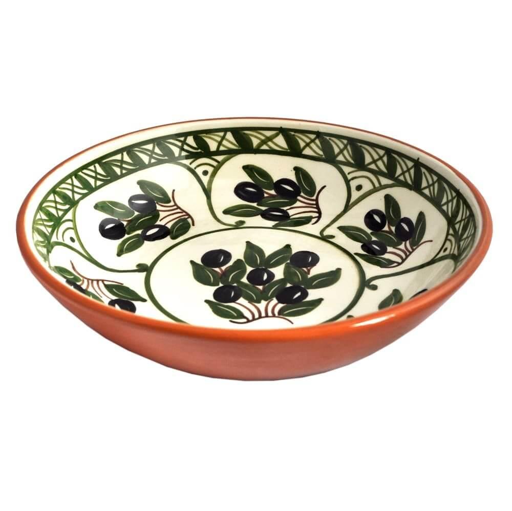 Aardewerk schaal - olijven - Portugal - True Gifts