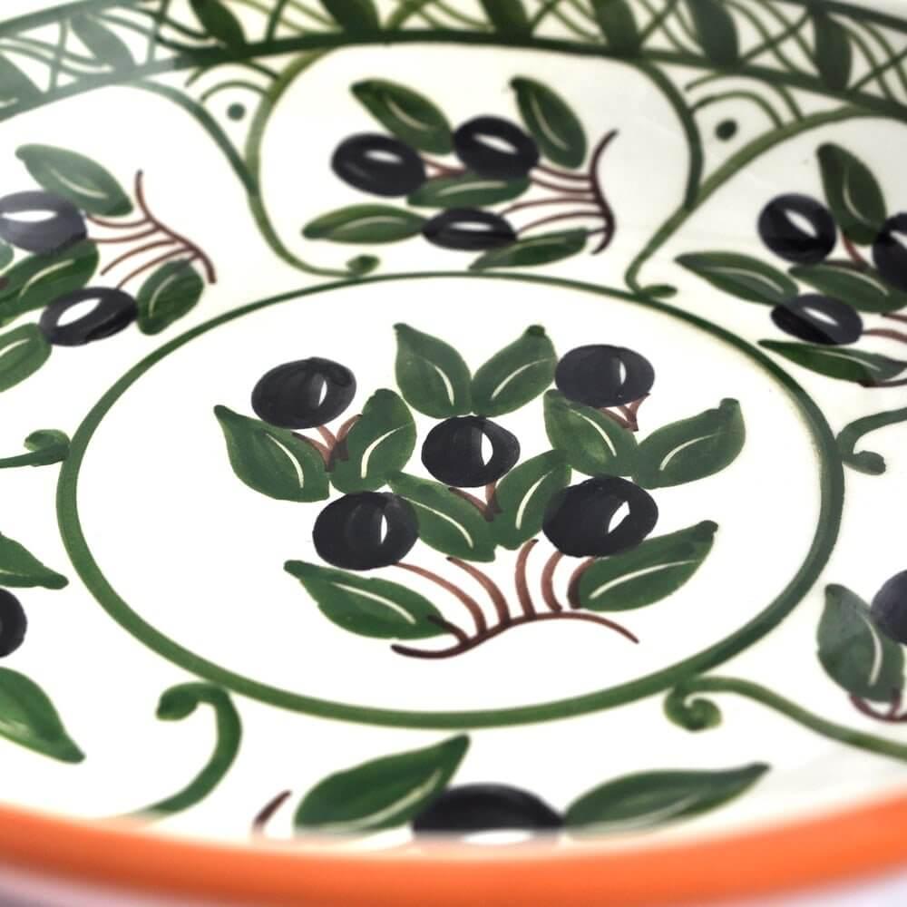 Aardewerk schaal - olijven - Portugal