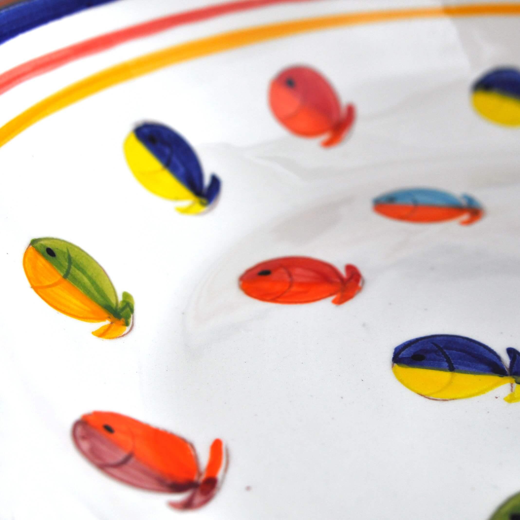 Aardewerk schaal - visjes - Portugal