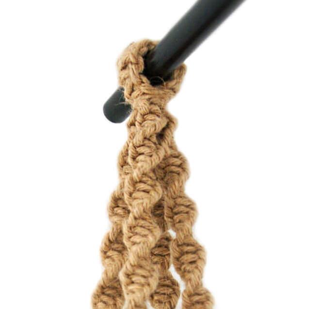 Handende bloempot - touw