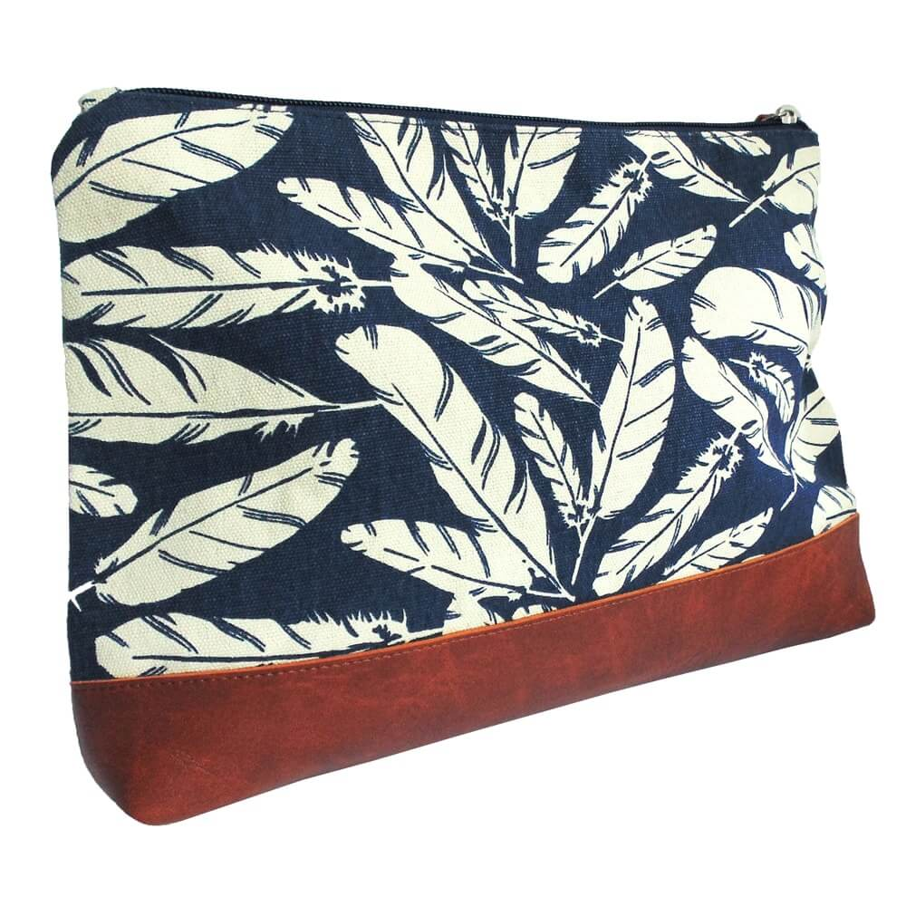 Beautybag - toilettas - blauw - veren - fair trade - true gifts