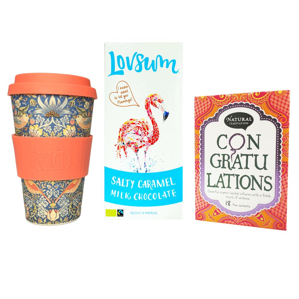 Luxe theepakket - thee, chocolade en koffiebeker