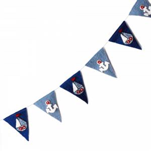 Vlaggenlijn bootjes en ankers